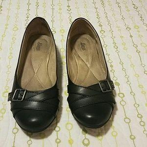 Bass Black Flat Ballet Shoes